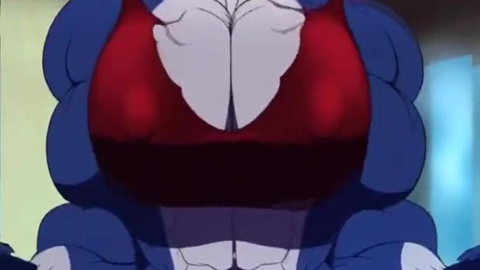 Cartoon/dragon growth girl muscle