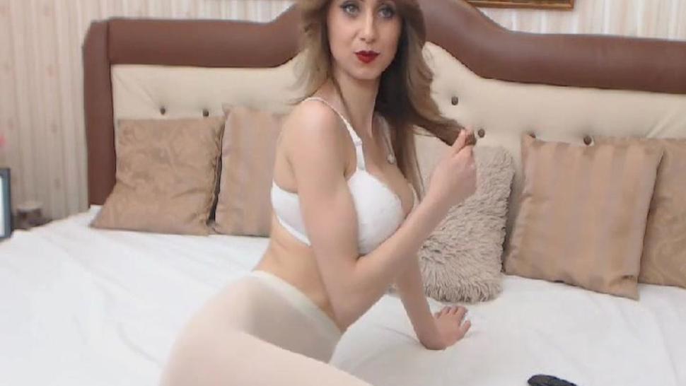 Blonde College Girl Masturbates First Time On Cam