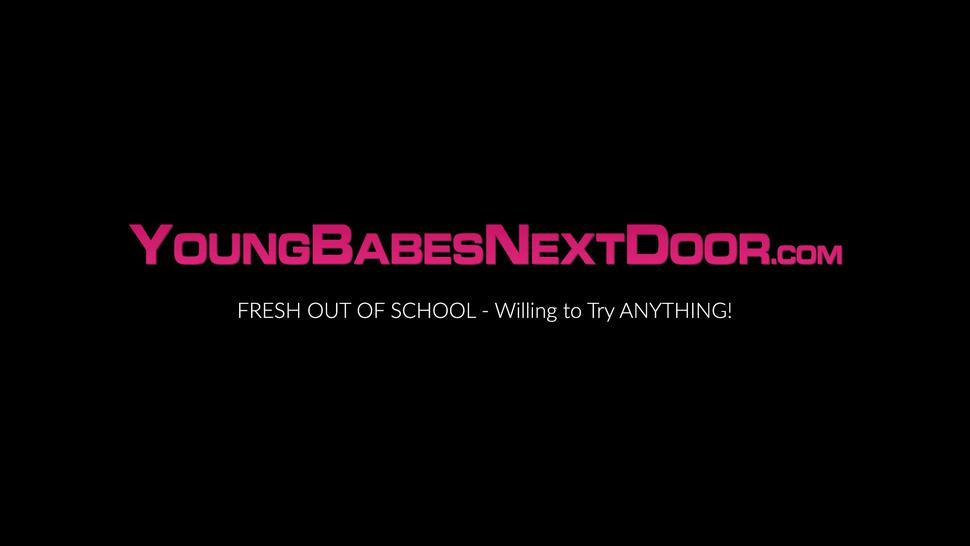 YOUNG BABES NEXT DOOR - Big ass amateur Skylar Vox fingering and pussy playing solo