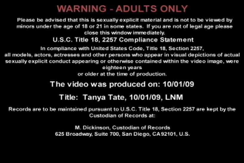 Tanya Tate - Live Naughty America 10/01/2009 - video 1