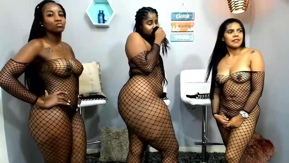Super Thick Colombian Ebony Amateur Orgy