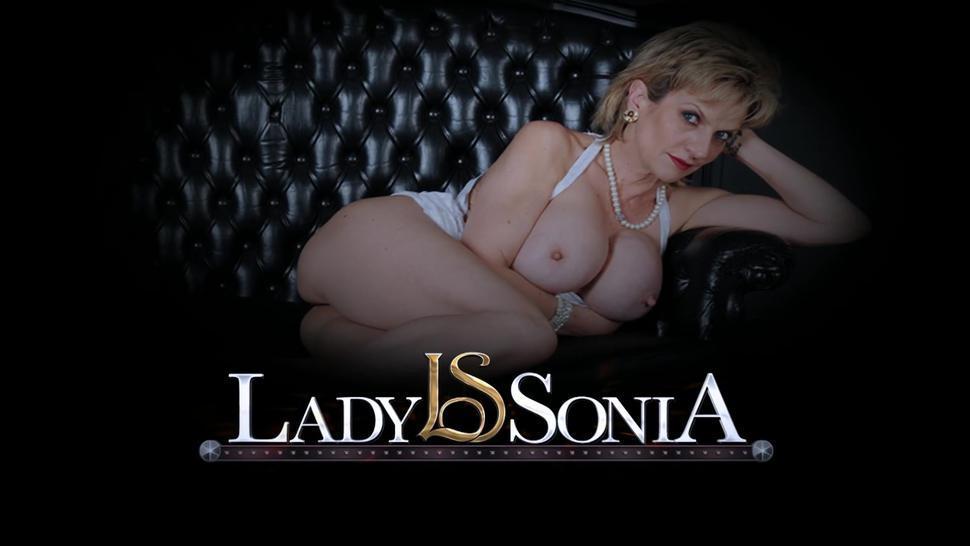 MILF Lady Sonia sucks cock big boobs cum
