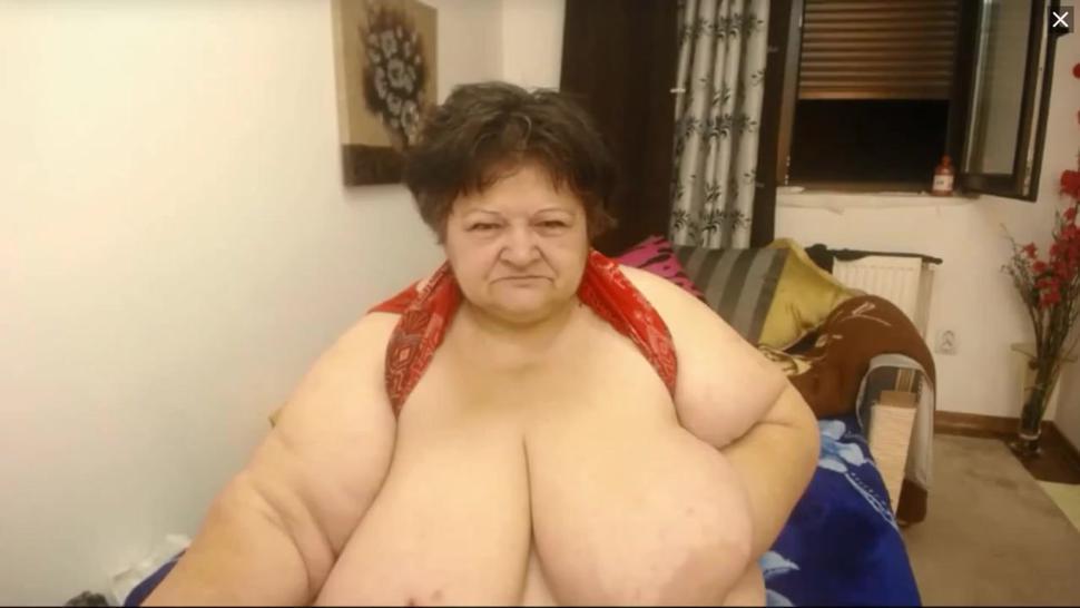 saggy granny huge boobs