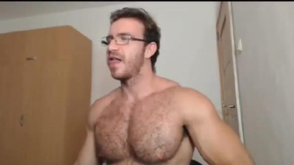If you like hairy muscle men. You'll love this guy! Uncut and cums