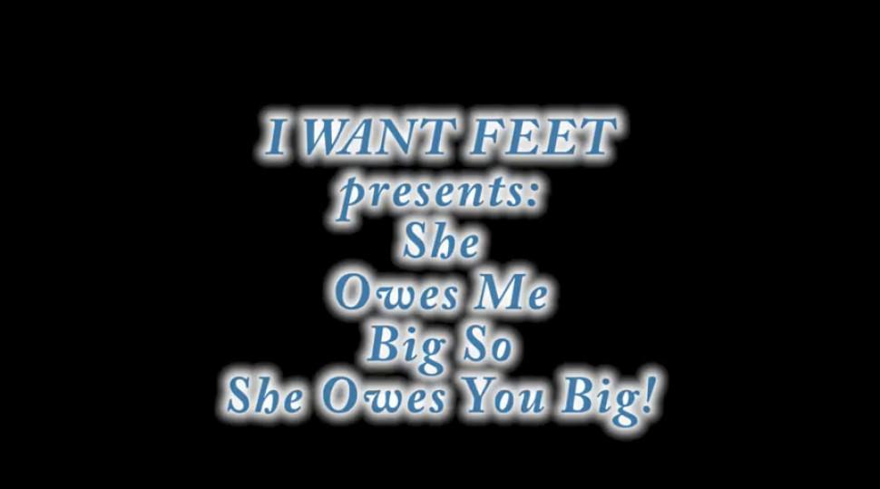 Owes Me Big Lesbian Foot action
