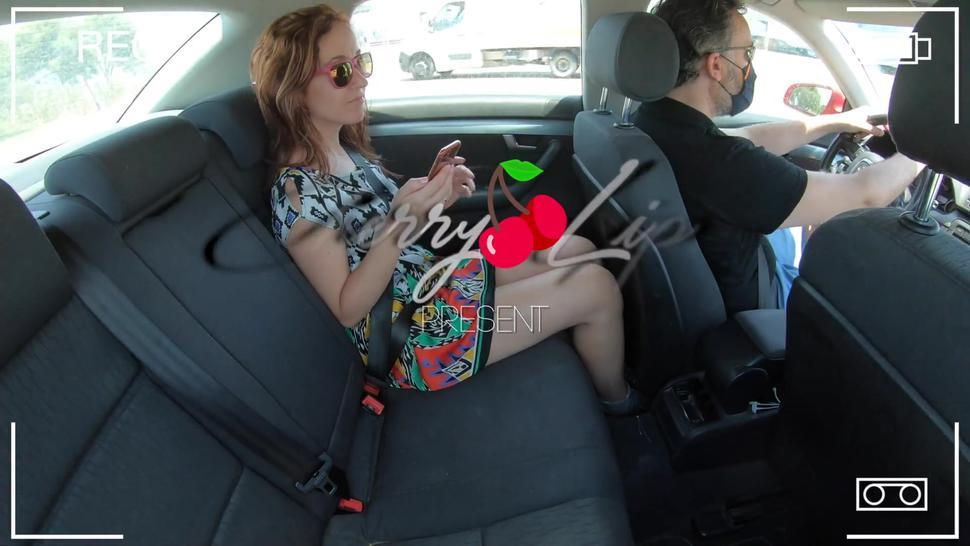 Caught a client stealthily masturbating with a satisfyer on my uber car with my security camera