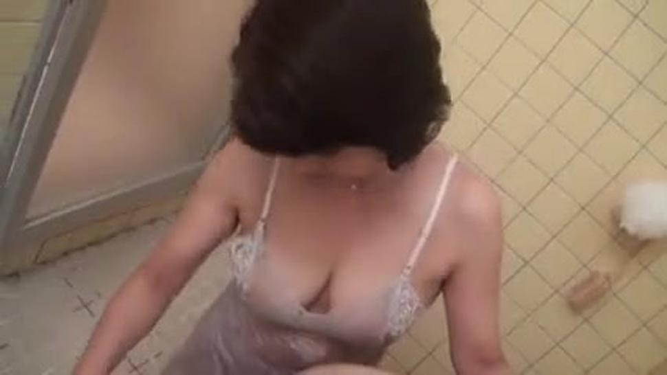 Japanese Mom In Shower Fucked By Young Lover