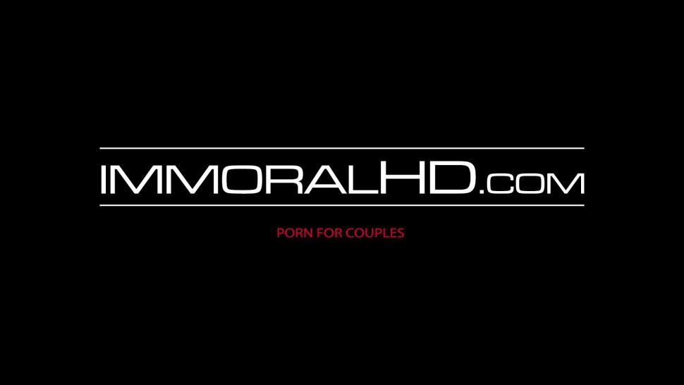 IMMORAL HD - Lesbian ladies use dildo and tongues to satisfy pussies