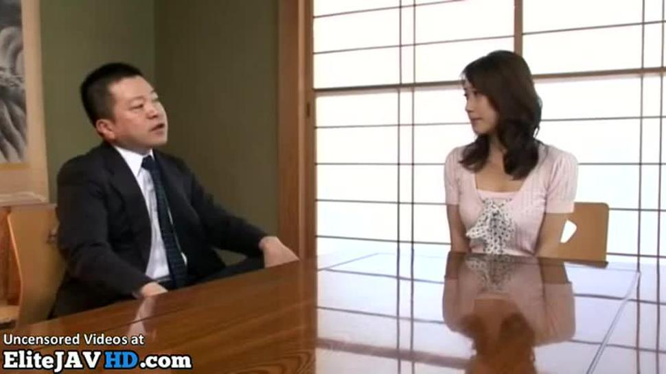 Asian Milf hard sex with horny boss