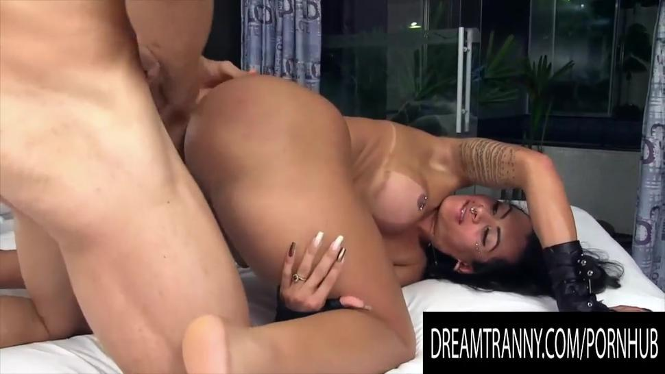 Dream Tranny - Tgirl Gets Pummeled in Doggystyle Compilation Part 12