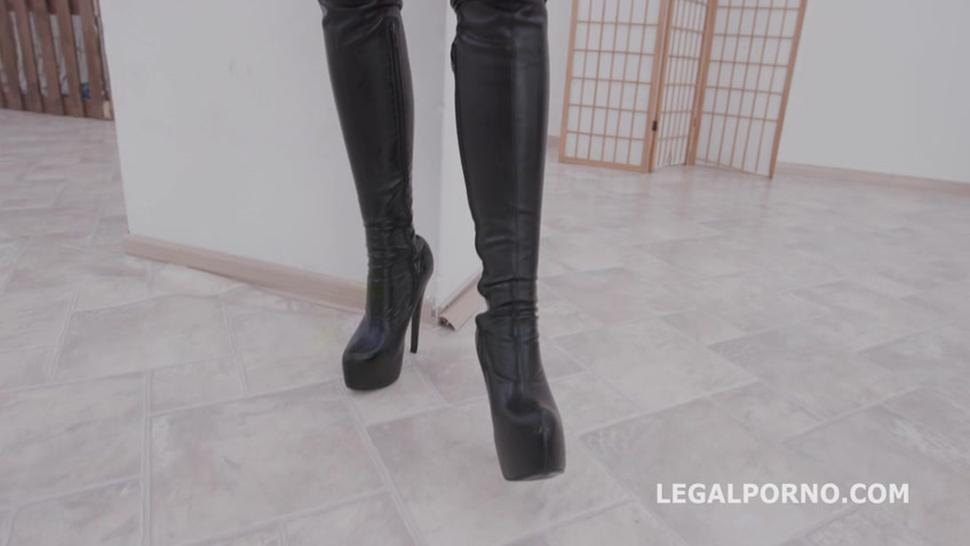 LegalPorno - Monster of TAP Jolee Love Balls Deep Anal, DAP, TAP, Gapes and Swallow