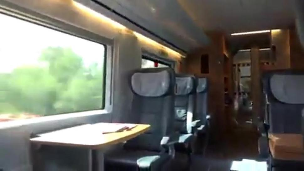 Deutsch Saugen Dick On The Train Ride