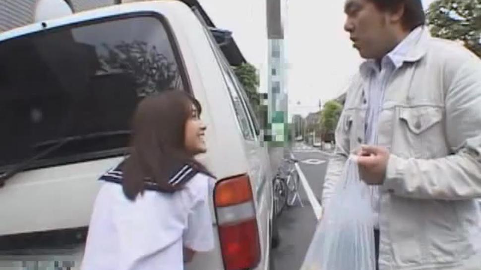 Mihiro Beautiful Roadside Blowjob in Uniform