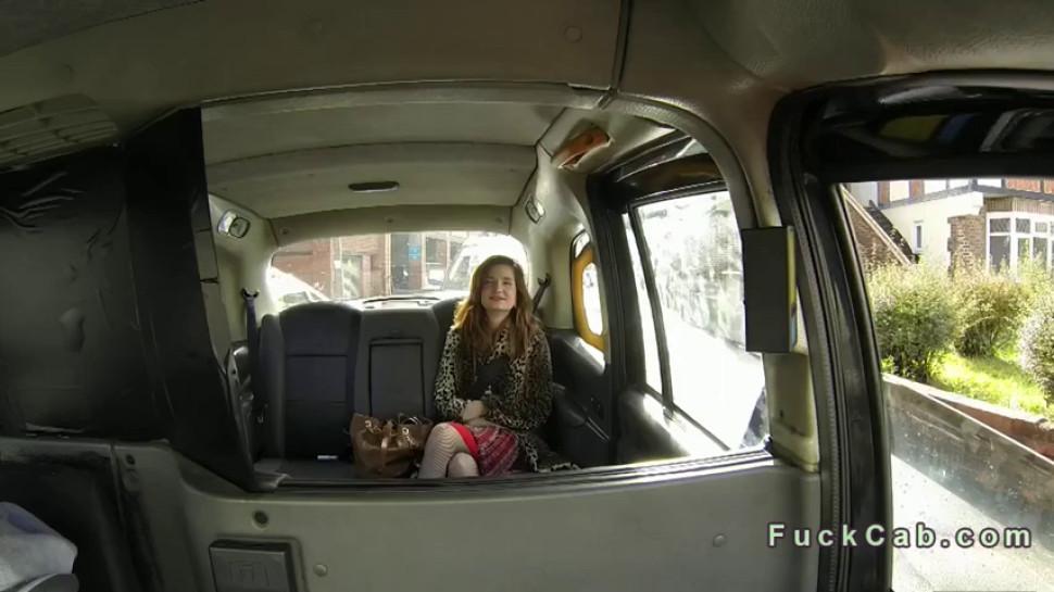Hardcore/pov/taxi redhead in fucked fake