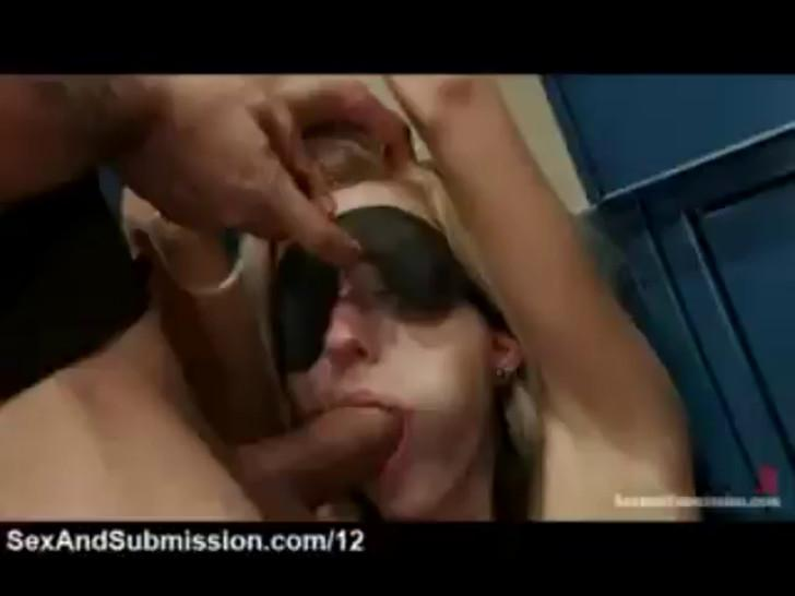 In locker room/locker bound blonde gets busty