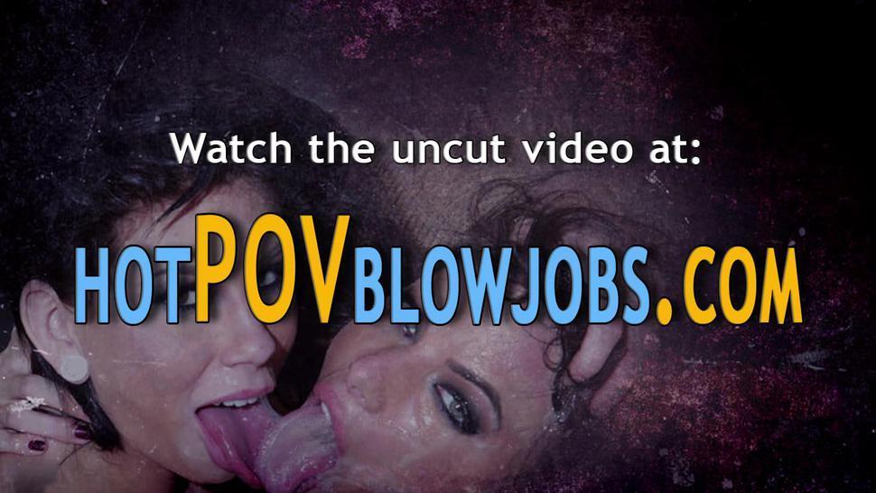 POV BLOWJOBS - Slut pov gagging on dicks