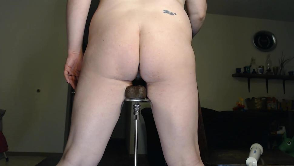 Standing Huge Black Dick On Fuck Machine!