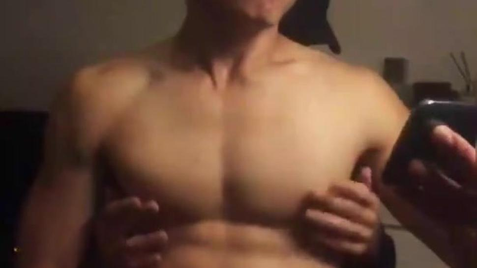 Hot Asian guy getting Nipple played!