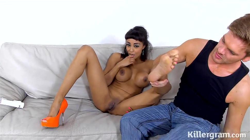 Slutty Girl Spreads Her Legs - Alyssa Divine