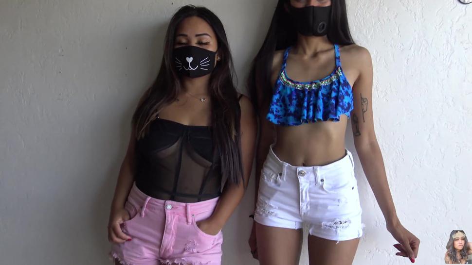 Asian/face jean short booty mask