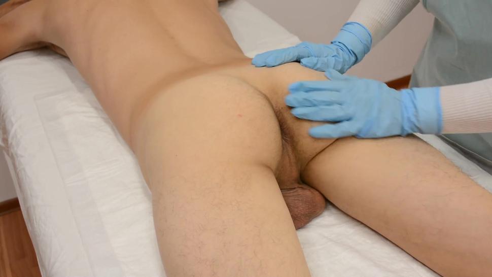 BOY DIDN'T EXPECT SUCH A SURPRISE... waxing ends prostate massage. Ass wax Part 2