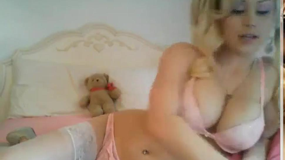 Gorgeous young blonde girl smoking sexy