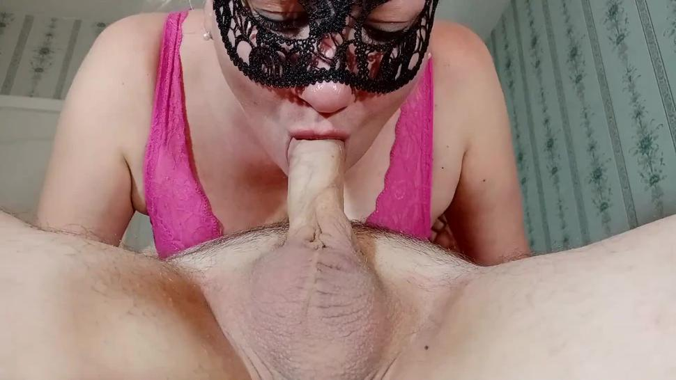 Uncut no hands Blowjob in 69 position with cum in mouth