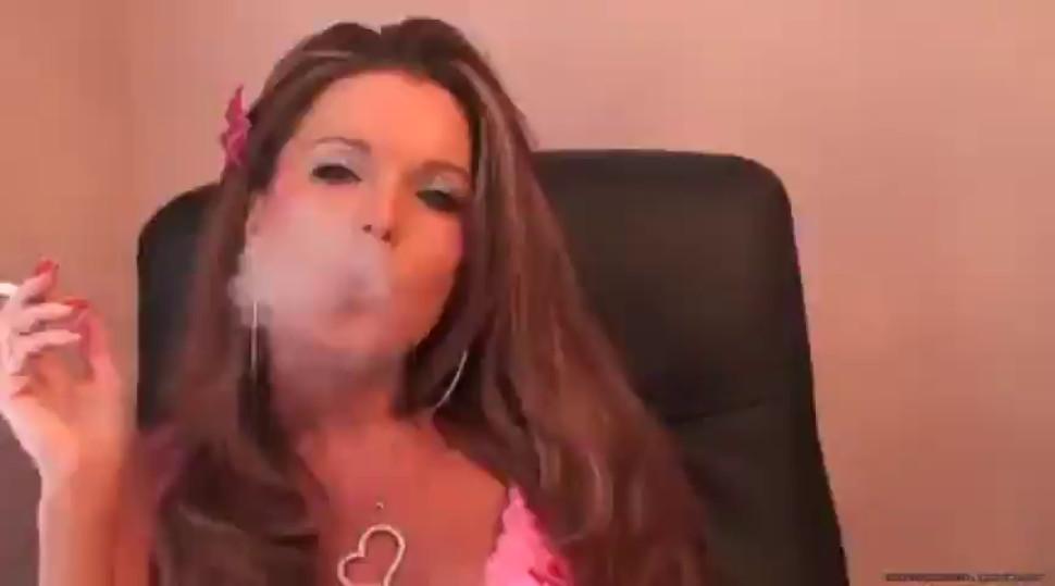 Sexy Secretary Smoking 02