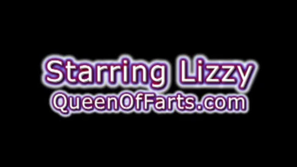 Lizzy farts down into your face making you smell it