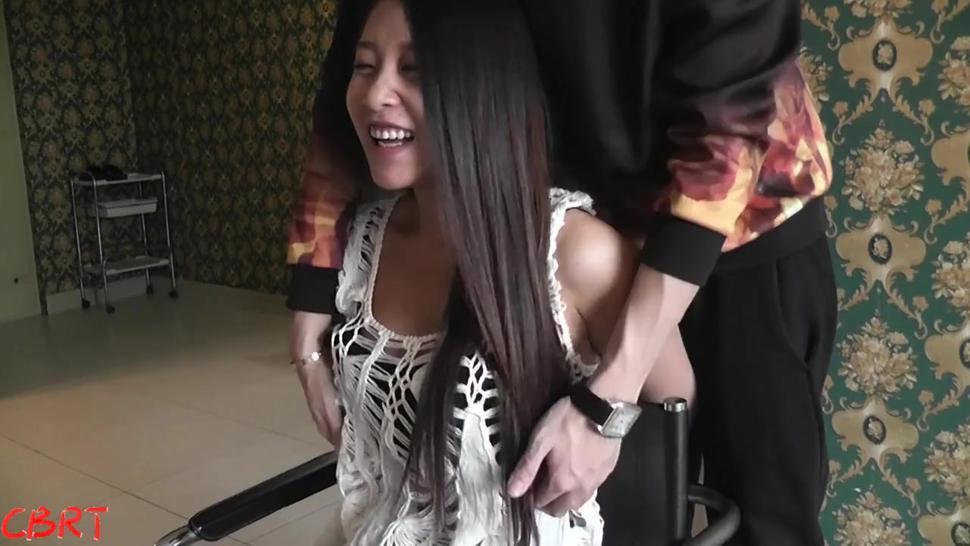 Asian Nylon Tickling