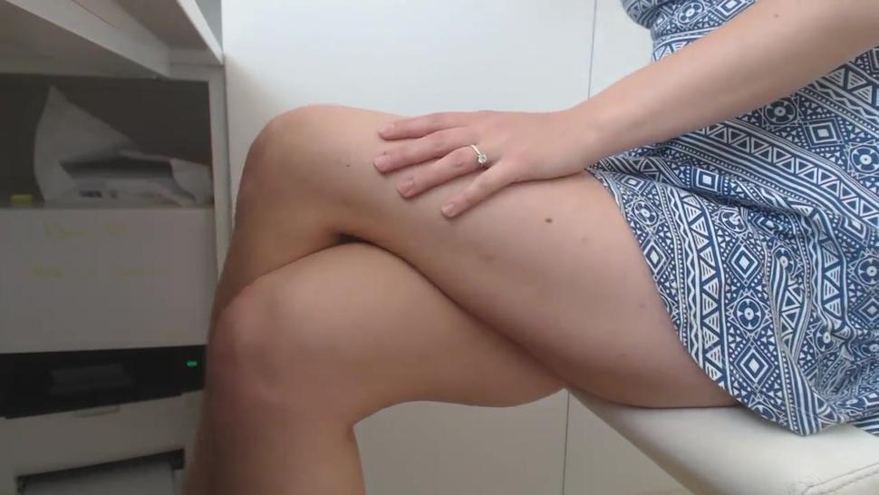 Hairy Nude Secretary Masturbates At Office Part1