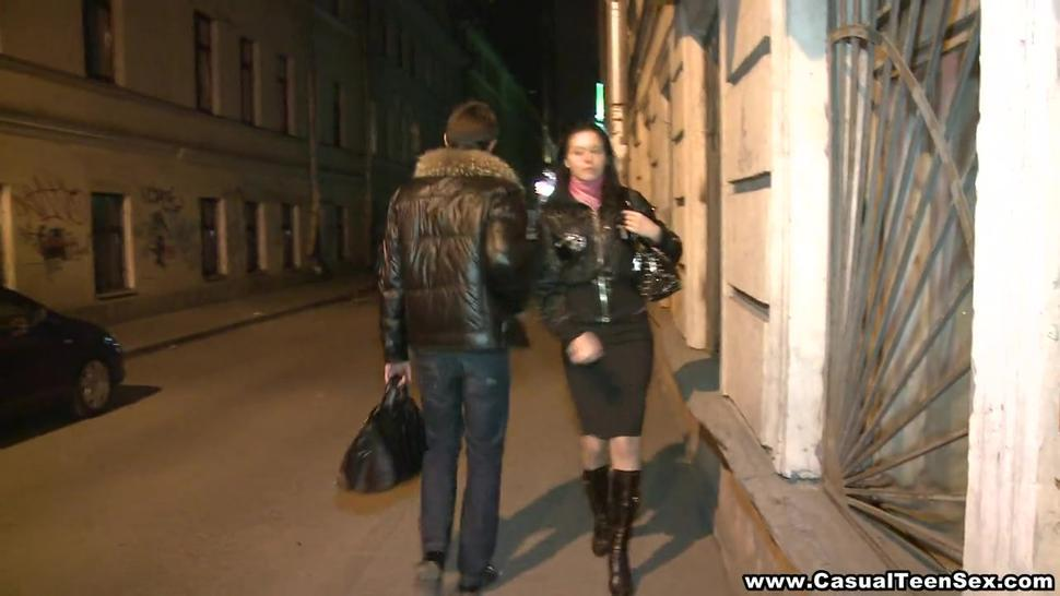 Casual Teen Sex - She laughed when he said he has a 12-inch cock