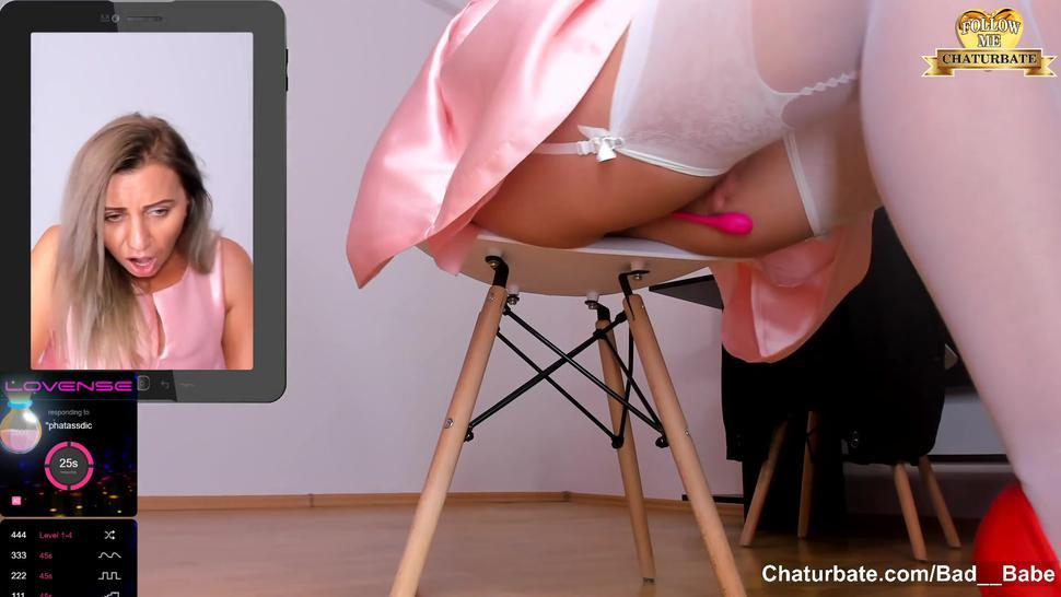 Secret Play in Office - Squirting Standing on Nylons, Feet, Toes, Heels on Chaturbate
