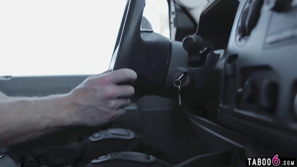 Bus driver fucks schoolgirls in a virtual reality world