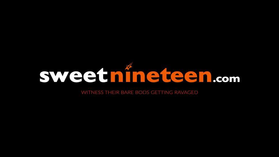 SWEET NINETEEN - Luscious teens Chloe Foster and Sara Luvv suck POV dick