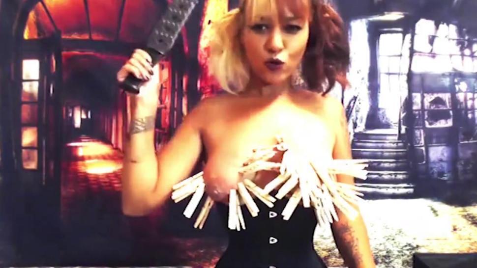 Flirt4Free Fetish Model Ann Smith - Asian Hottie Pain Slut Paddles Her Ass Raw