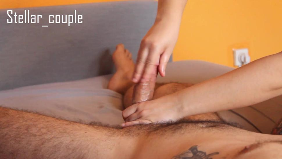(SHORT VERSION) POST ORGASM HANDJOB - EDGING - KNOB POLISHING - 3 MIN OF POST ORGASM TORTURE!!!!!