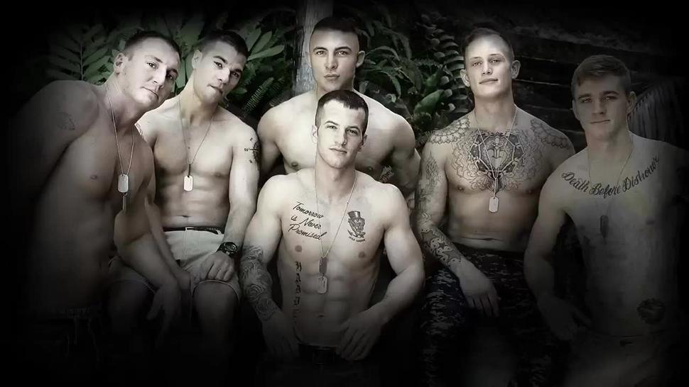 Gay soldier ramming hunks ass