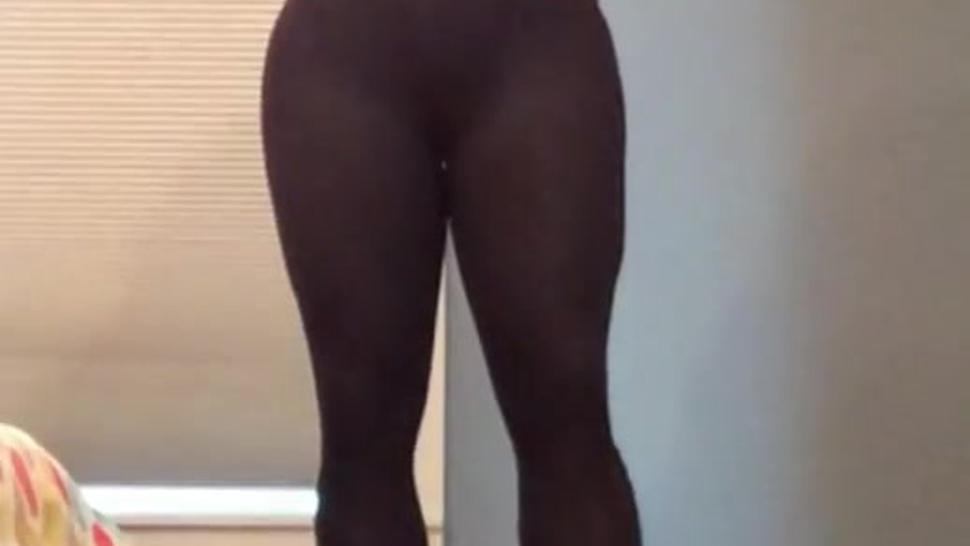 Janice the Asian minx (female mask, long legs, crossdressing, transvestite)