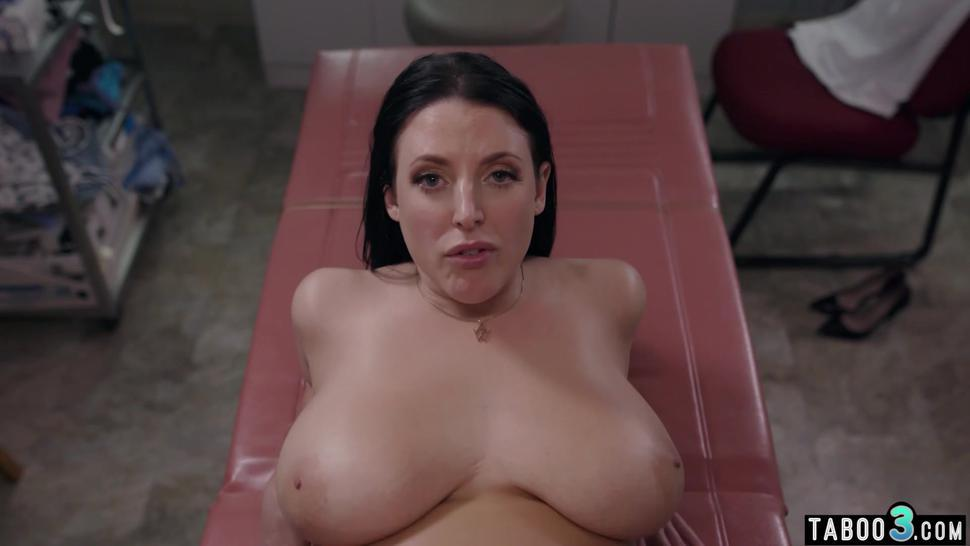 Chubby busty MILF loves to feel big cocks in all her holes