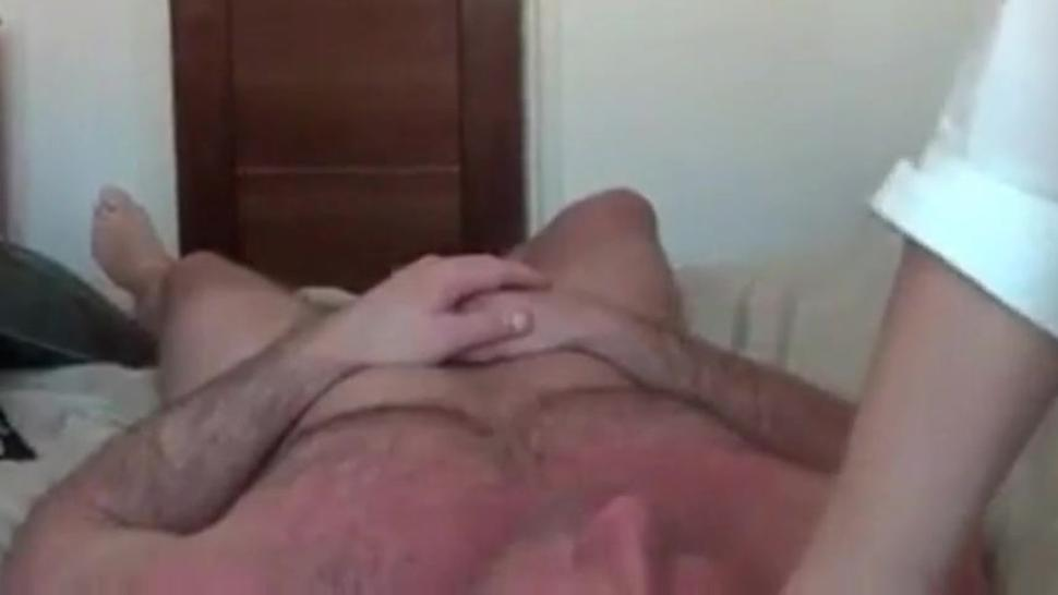 Homemade video with brunette with big Tits