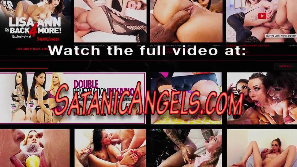 Tattooed whore gets double penetrated
