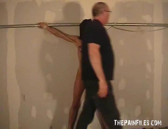 Busty bondage babe Danii Black tit tortured and whipped in the dungeon