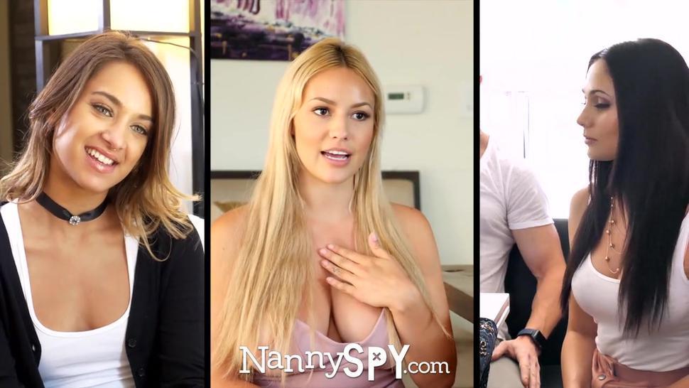 NANNYSPY Masturbating Nanny Caught And Fucked To Save Job
