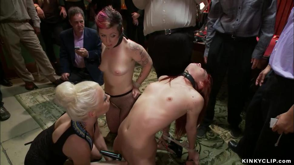Slaves public group anal fucked