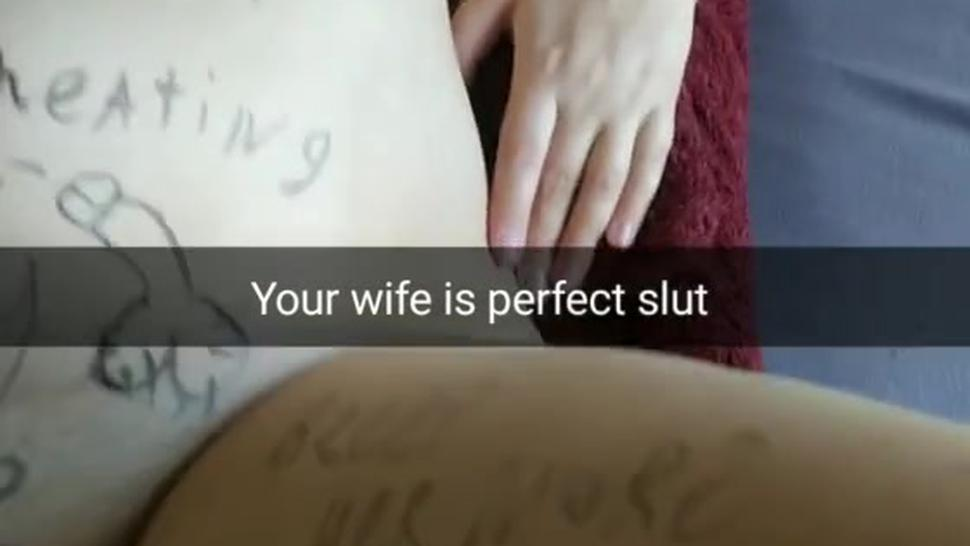 My wife is a perfect slut for free fucking [Cuckold. Snapchat]