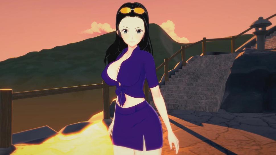 One Piece Hentai 3D - Nico Robin x Nami (Futa)