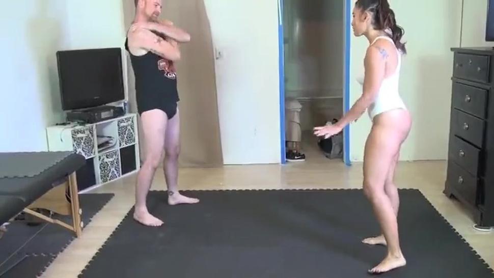 A very sexy Sahrye in maledom wresting