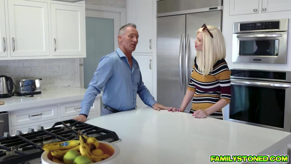 Stepdad lucky to have a taste of her horny stepdaughters pussy