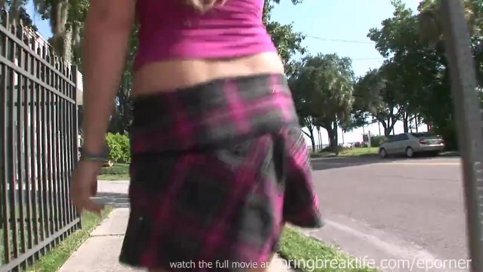 Naked In Public - Short Skirt